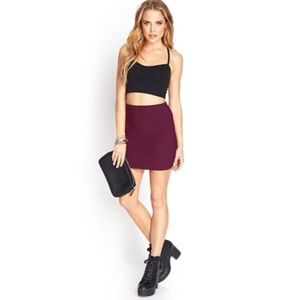 Forever 21 Ribbed Bodycon High Waist Mini Skirt
